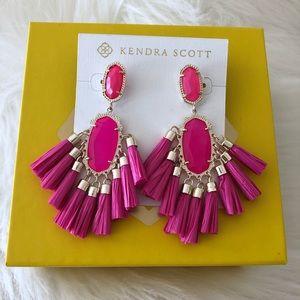Kendra Scott pink tassel earrings